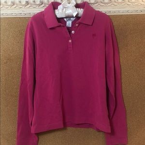 Lily Pulitzer girls 14 long sleeve hot pink polo